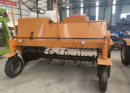 4-wheel type windrow compost turner