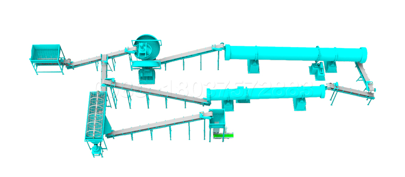 Organic or Compond Fertilizer Disc Granulation Production Line