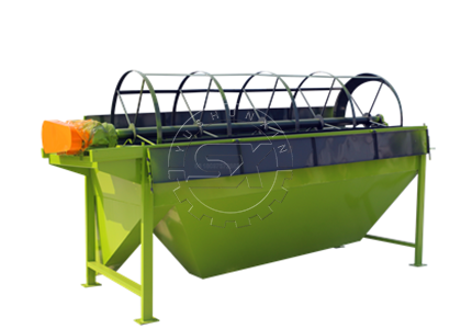 Rotary screen machine for making farm waste fertilizer