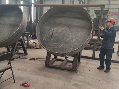 a making pan granulator in ShunXin factory