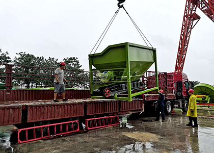 delivery of rotating screening machine