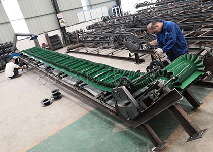 fertilizer belt conveying machine