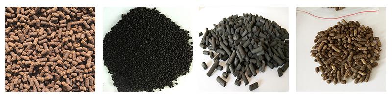 fertilizer granules produced by dry granulation equipment