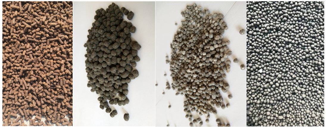 final granules produced by wet granulation equipment