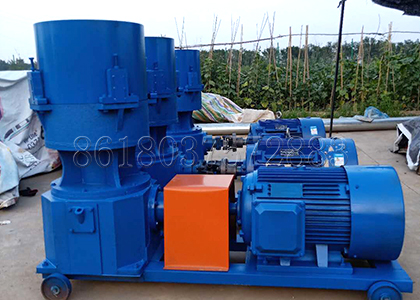 flat die granulator used for making organic fertilizer pellets