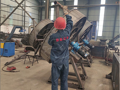 making process of ShunXin pan pelletizer
