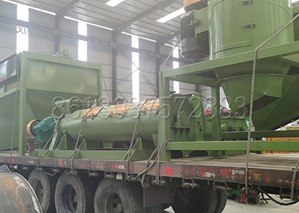 organic fertilizer granulating machine delivery
