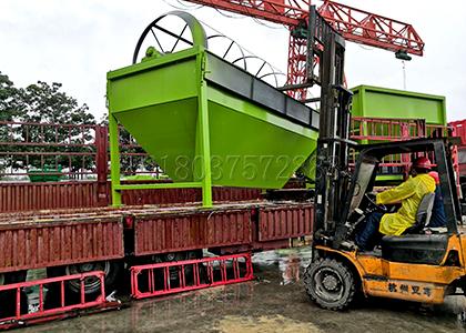 rotary screener loading