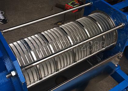 screw shaft of ShunXin screw extrusion solid-liquid separator machine