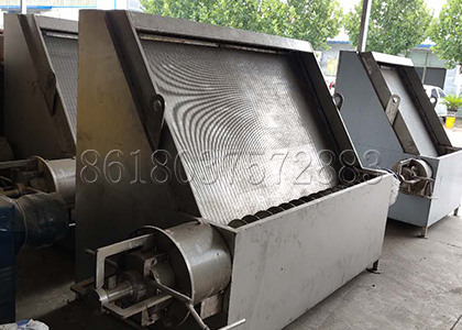 the making inclined sieve separating machine
