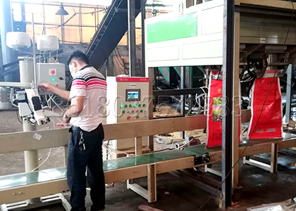 working process of granular fertilizer packing equipment