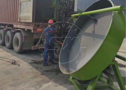 disk granulator delivery