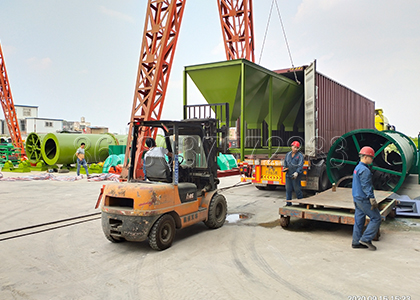 loading of fertilizer batching machine
