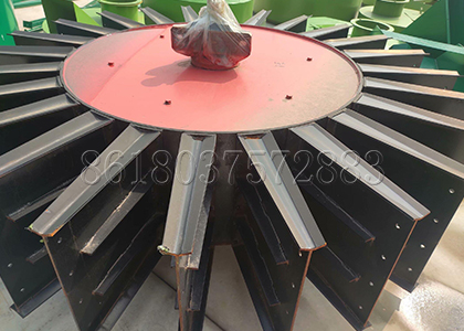 the composting wheel of large wheel type compost turning machine