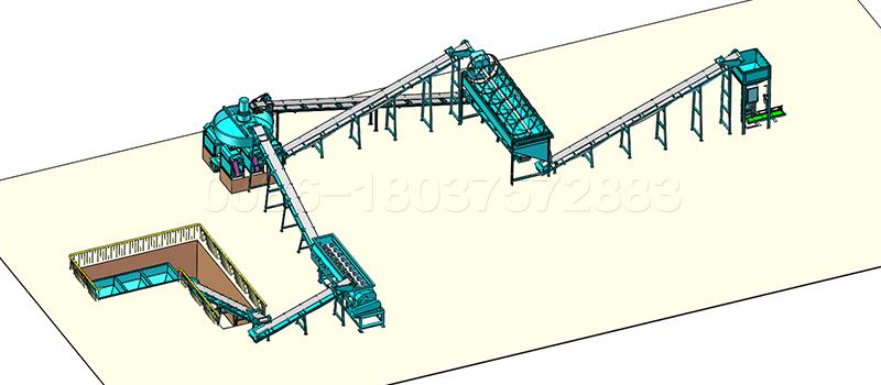 10 to15 ton NPK fertilizer production line