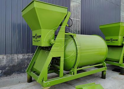 Granles Mixing Machine in Bulk blending fertilizer production line
