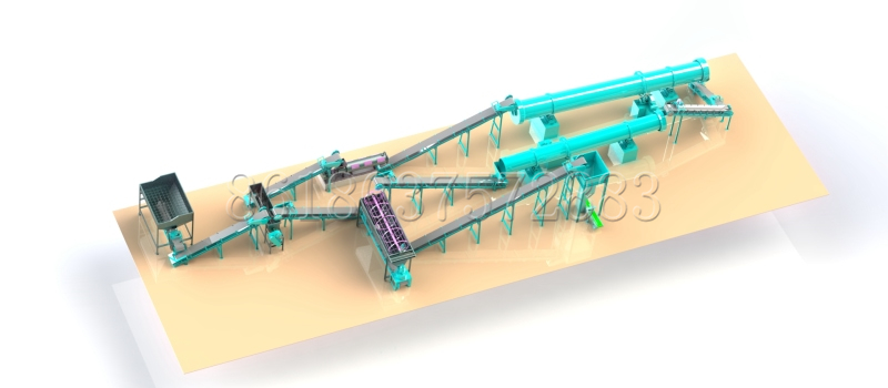 Stirring Teeth Granulator Organic Fertilizer Production Line
