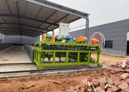 Installation of Groove Type Composting Machine